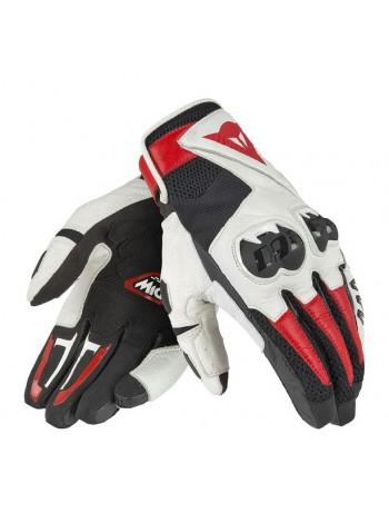 Мотоперчатки Dainese MIG C2 UNISEX Black/White/Lava-Red