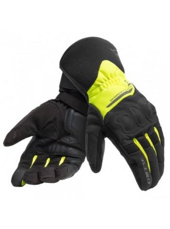 Мотоперчатки Dainese X-TOURER D-DRY Black/Fluo-Yellow