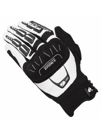 Мотоперчатки HELD Backflip мужские черные с белым