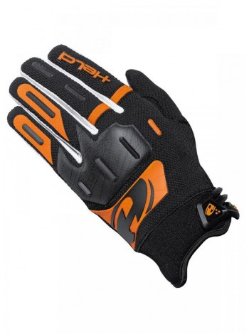 Мотоперчатки кроссовые HELD HARDTACK черно-оранжевые