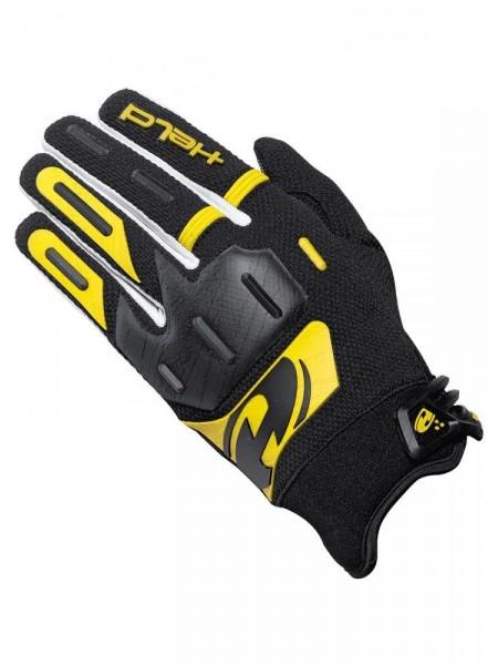 Мотоперчатки кроссовые HELD HARDTACK черно-желтые