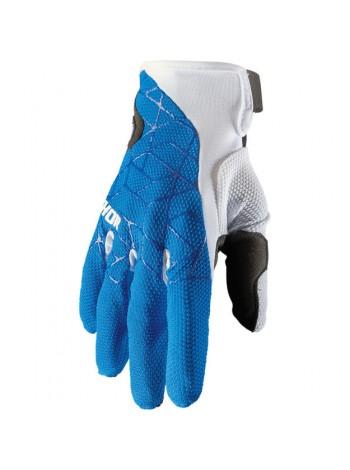 Перчатки для мотокросса Thor Draft Сине-белые
