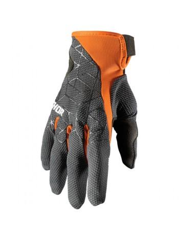 Перчатки для мотокросса Thor Draft Черно-оранжевые