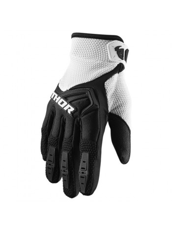Перчатки для мотокросса Thor S20 Spectrum Черно-белые