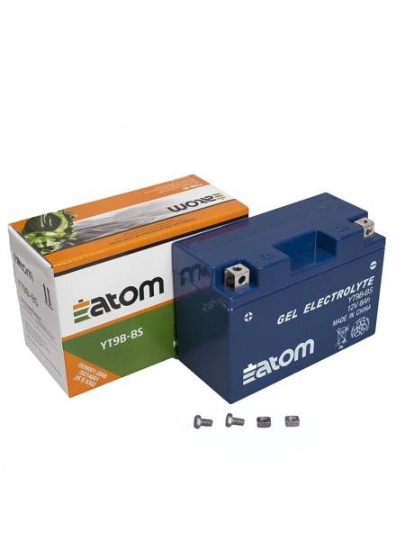 Мотоаккумулятор ATOM YT9B-BS (YT9B-4) GEL гелевый