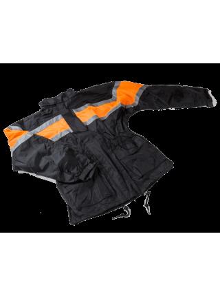 Мотодождевик PROUD TO RIDE куртка с брюками Черный с оранжевым