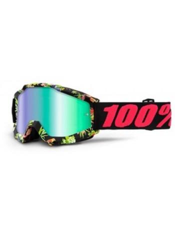 Маска кроссовая 100% Accuri Chapter 11 - Mirror Green Lens