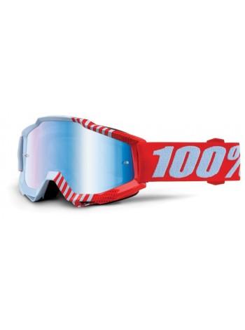 Маска кроссовая 100% Accuri Goggle Cupcoy - Mirror Blue Lens