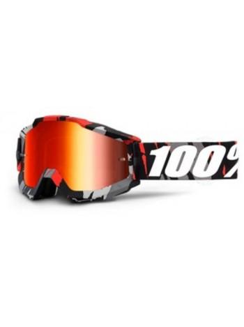 Маска кроссовая 100% Accuri Magemo - Mirror Red Lens