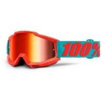 Маска кроссовая 100% Accuri Passion Orange - Mirror Red Lens