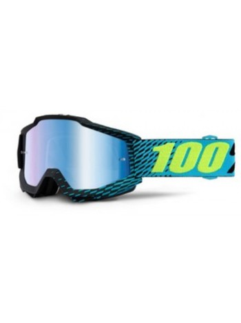 Маска кроссовая 100% Accuri R-Core - Mirror Blue Lens