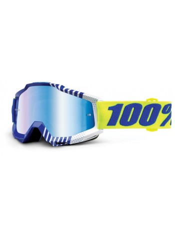 Маска кроссовая 100% Accuri Sundance - Mirror Blue Lens