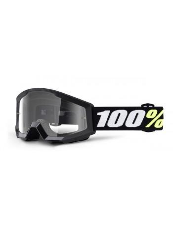 Маска детская кроссовая 100% Strata Mini Black