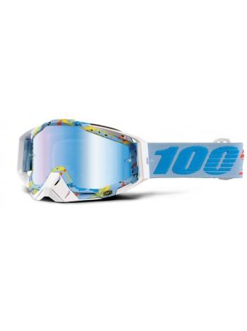 Маска кроссовая 100% Racecraft Hyperloop - Mirror Blue Lens