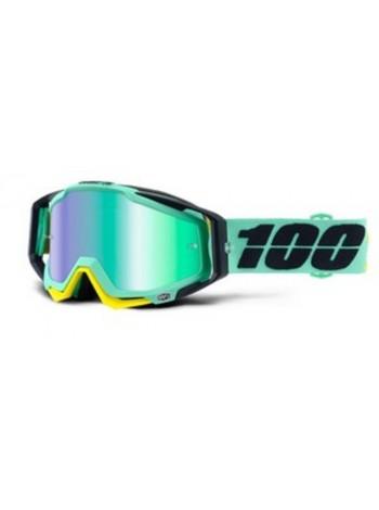 Маска кроссовая 100% Racecraft Kloog - Mirror Green Lens