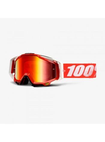 Маска кроссовая 100% Racecraft Goggle Fire Red - Mirror Red Lens