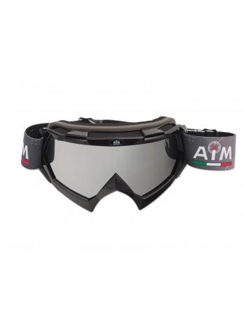 Маска кроссовая AiM (PRO) 157-100 Black Glossy