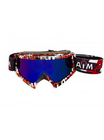 Маска кроссовая AiM (PRO) 157-700 Red-White-Black Glossy