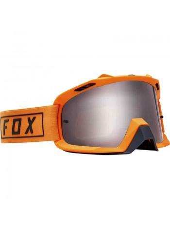 Маска кроссовая Fox 2019 Air Space Gasoline Orange Flame очки, оранжевые