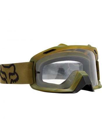 Маска кроссовая Fox Air Space Army очки, зеленые
