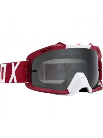 Маска кроссовая Fox 2018 Air Defence Preest Dark Red очки, красные