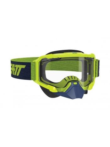 Маска Leatt Velocity 4.5 SNX Goggle Neon Lime Clear
