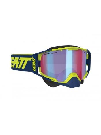 Маска Leatt Velocity 6.5 SNX Goggle Iriz Ink/Lime Blue