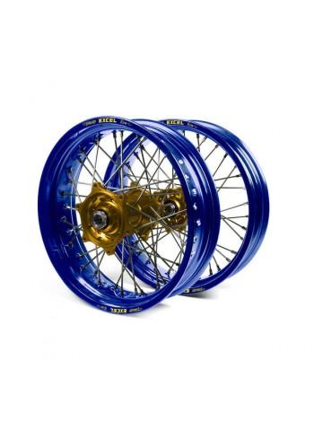 """Колесо переднее Haan Wheels для Yamaha YZF250, 450 """"2014-> 21-1,60 с синим ободом"""