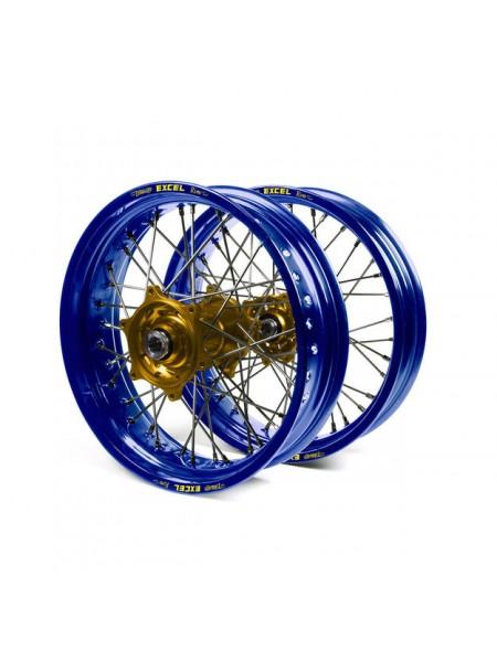 Колесо переднее Haan Wheels для Yamaha YZF250, 450 2014-> 21-1,60 с синим ободом