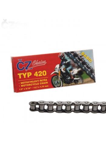 Цепь CZ Chains 420 Basic - 98 (защелка)