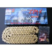 Цепь DID ZVM-X 530 G&G 124 звена с замком-заклепкой, золотая