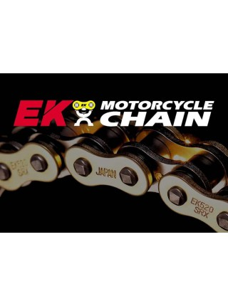 Цепь EK Chain 530SRX2 118 звеньев, QX-Ring, заклепка, синий