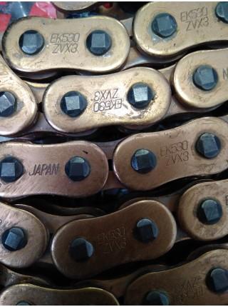 Цепь EK Chain 532Zvo 114 звеньев, O-Ring, Gold