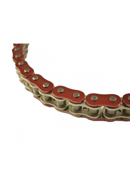 Цепь EK Chain 530SRX2 118 звеньев, QX-Ring, заклепка, красный