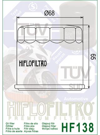 Масляный фильтр Hiflofiltro HF138 (hf-138)