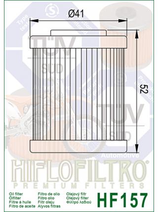 Масляный фильтр HifloFiltro Hf-157