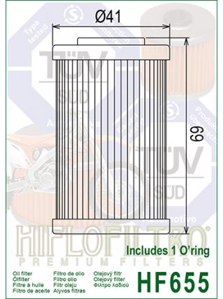 Масляный фильтр HifloFiltro HF655