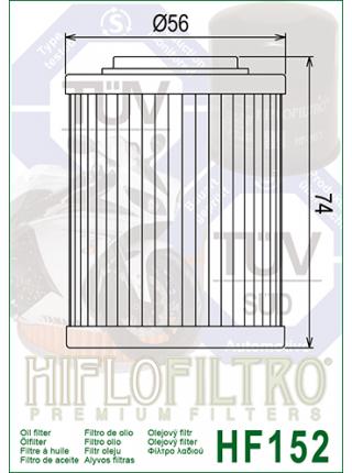 Масляный фильтр HifloFiltro HF152