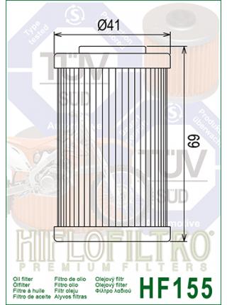 Масляный фильтр HifloFiltro HF155