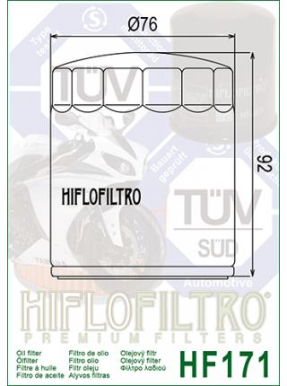 Масляный фильтр HifloFiltro HF171C