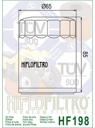Масляный фильтр HifloFiltro HF198