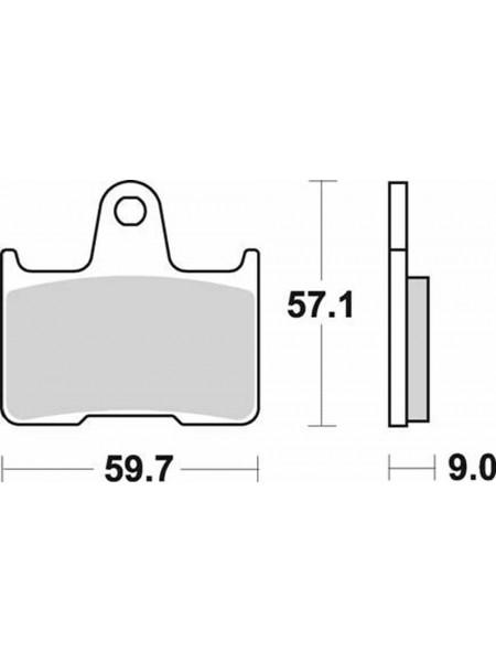Тормозные колодки Braking 875sm1