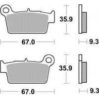 Тормозные колодки Braking 890CM1 Yamaha