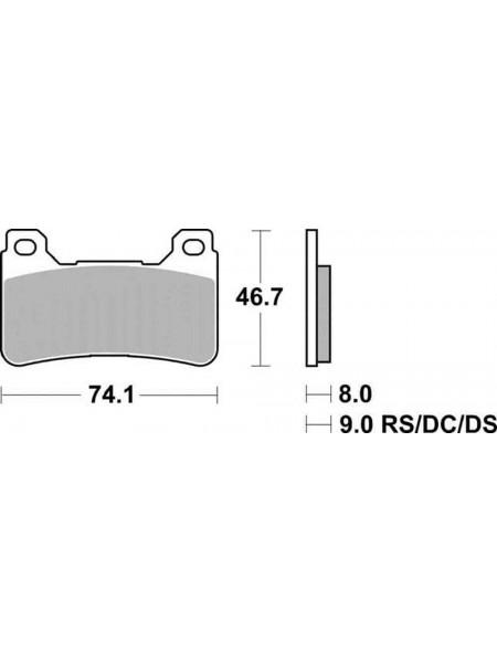 Тормозные колодки Braking 899CM55 Honda