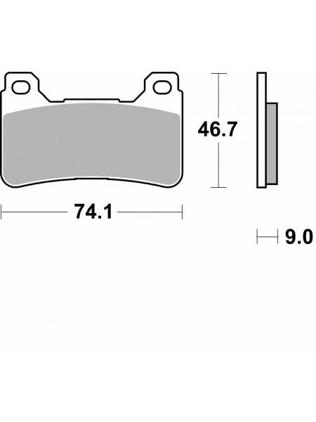 Тормозные колодки Braking Super Sintered P1R899