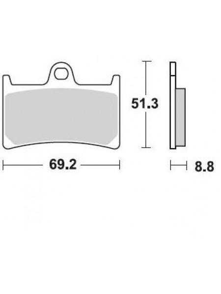Тормозные колодки Braking 786CM66