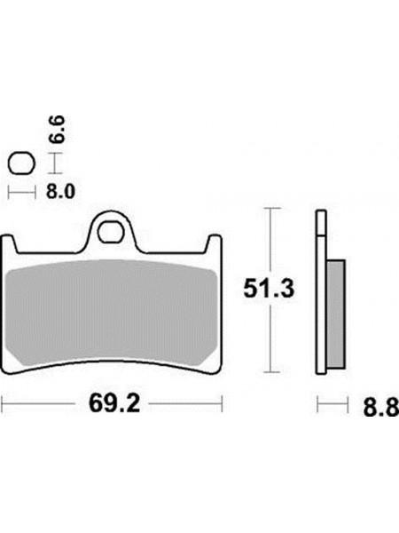 Тормозные колодки Braking P1R786 Yamaha