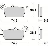 Тормозные колодки Braking 701SM1 Yamaha