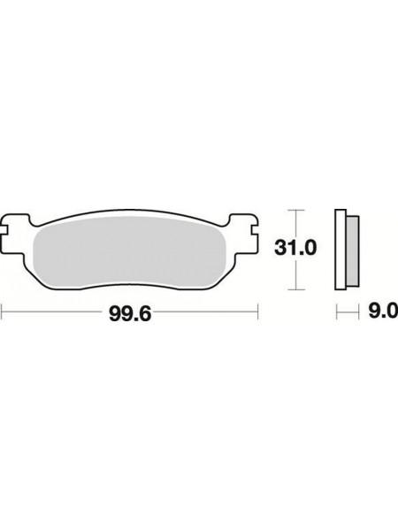 Тормозные колодки Braking 822SM1 Yamaha