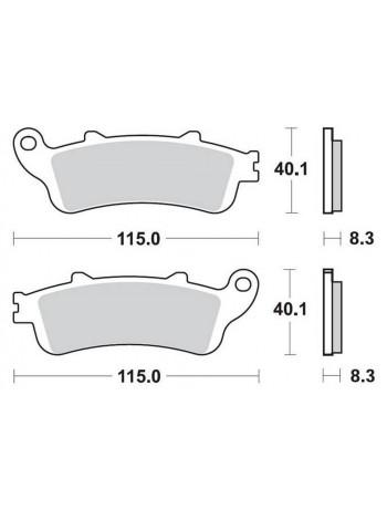 Тормозные колодки Braking 813CM55